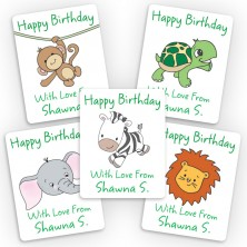 Safari Animals Mini Gift Labels