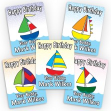 Sailboats Mini Gift Labels