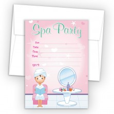 Salon Girl 2 Fill-In Birthday Party Invitations