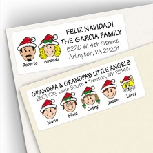 Santa Hat Address Labels