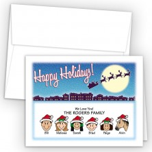 Santa Silhouette Happy Holiday Fold Note