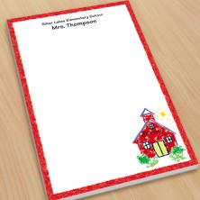 Schoolhouse Teacher Large Note Pads