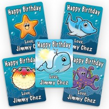 Sea Life Mini Gift Labels