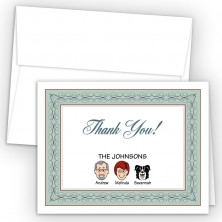 Seabreeze Foldover Family Thank You Card