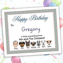 Seabreeze Happy Birthday Gift Label