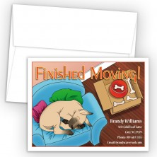 Sleeping Doggy Moving Card