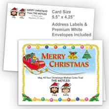 Santa's Sleigh Merry Christmas Fold Note Set