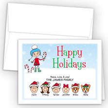 Snow Girl Happy Holiday Fold Note