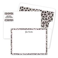 Snow Leopard Artistic Correspondence Card Ensembles
