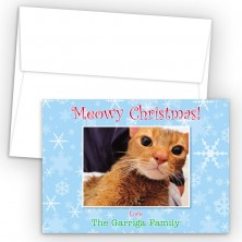 Snowflakes 2 Photo Upload Holiday Card