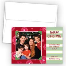 Snowflakes Photo Upload Holiday Card