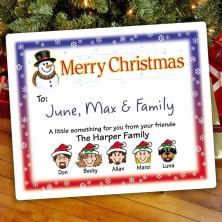 Snowman 2 Christmas Gift Label