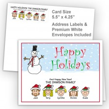 Snowman 3 Happy Holidays Fold Note Set
