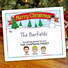 Snowman Christmas Gift Label