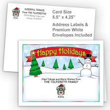 Snowman Happy Holidays Fold Note Set