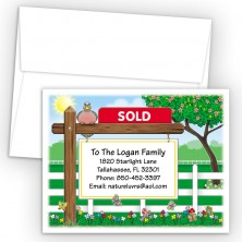 Sold Sign Moving Card