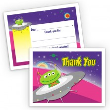 Space Ship Fill-In Thank You Cards