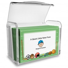 Sports Family Note Card Set with Acrylic Holder