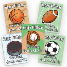Sports Mini Gift Labels