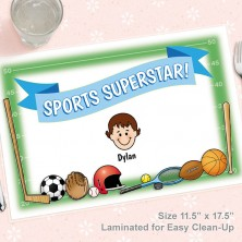 Sports Superstar Caricature Placemat