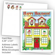Spring House Happy Holidays Fold Note Set