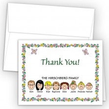 Springtime Foldover Family Thank You Card