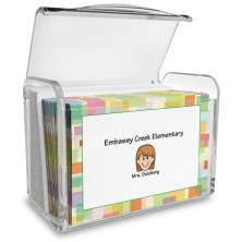 Squares Family Note Card Set with Acrylic Holder