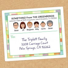 Squares Family Shipping Label