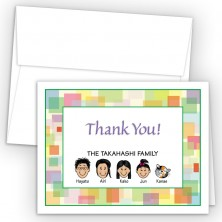 Squares Foldover Family Thank You Card