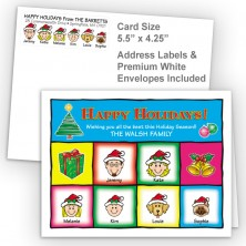 Squares Happy Holidays Fold Note Set