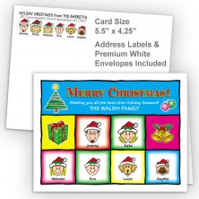 Squares Merry Christmas Fold Note Set