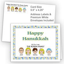 Stars Happy Hanukkah Fold Note Set