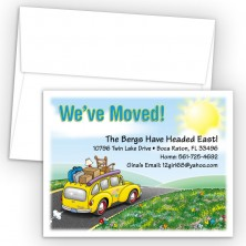 Station Wagon Moving Card