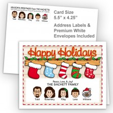 Stockings Happy Holidays Fold Note Set