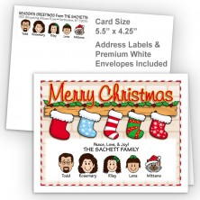Stockings Merry Christmas Fold Note Set