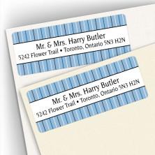 Stripes Blue Address Labels