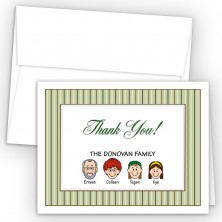 Stripes Foldover Family Thank You Card