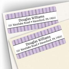 Stripes Purple Address Labels