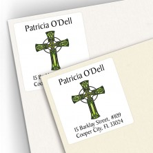 Tattoo Celtic Cross Square Address Labels