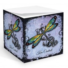 Tattoo Dragonfly Memo Cube