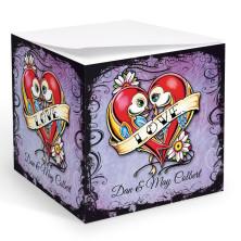Tattoo Lovebirds Memo Cube