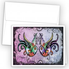 Tattoo Swallows Note Cards