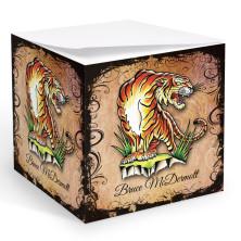 Tattoo Tiger Memo Cube