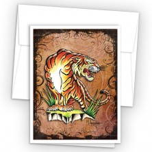 Tattoo Tiger Note Cards