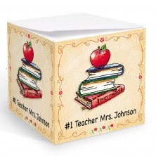 Teacher Books Memo Cube