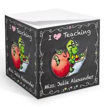 Teacher Bookworm Memo Cube