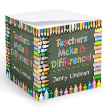 Teachers Make A Difference Memo Cube