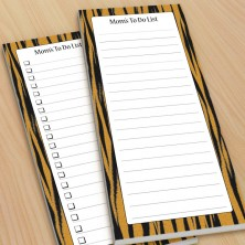 Tiger Stripes Pattern To-Do Pads