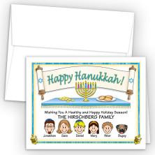 Torah Happy Hanukkah Holiday Fold Note Head