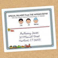 Train Family Shipping Label